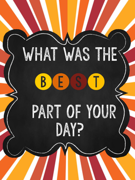 What Was The BEST Part Of Your Day? Posters