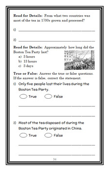 What Was the Boston Tea Party? (Kathleen Krull) Book Study (26 pages)