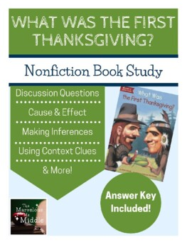 What Was the First Thanksgiving - Common Core Aligned Book Study
