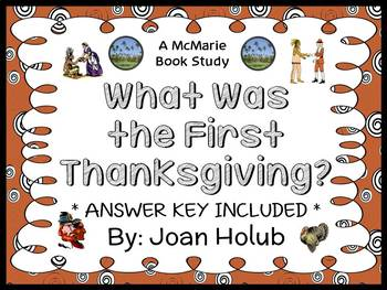 What Was the First Thanksgiving? (Joan Holub) Book Study / Reading Comprehension