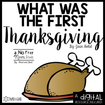 What Was the First Thanksgiving Novel Unit or Guided Reading Pack