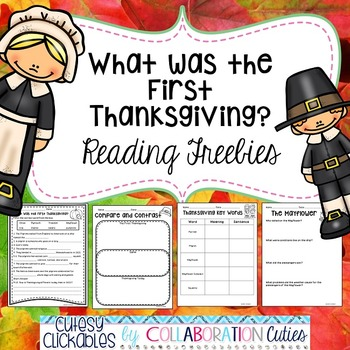 What Was the First Thanksgiving Reading Freebies