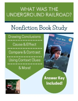 What Was the Underground Railroad? Book Study