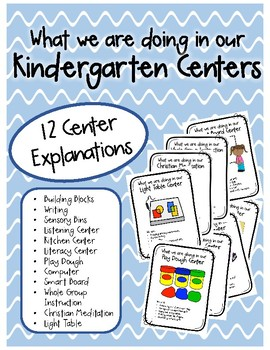 What We Are Doing Signs - Kindergarten Center Explanations