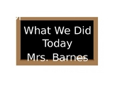 What We Did Today Missed Assignments Printable