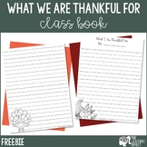 What I Am Thankful For Writing Paper | FREE