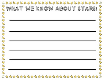 What We Know About Stars worksheet