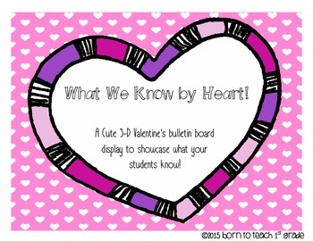 What We Know By Heart: A Bulletin Board to display what yo