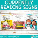 Currently Reading Signs | Editable