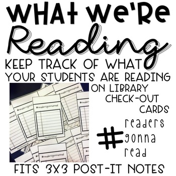 What We're Reading Student Trackers *EDITABLE*