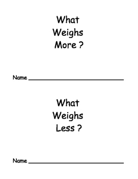 What Weighs More?