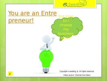 What/Who is an Entrepreneur and Choosing a Business Idea Lesson