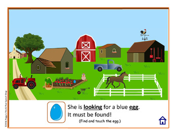 NO PRINT What Will I Find On The Farm? Speech Therapy Interactive Stories F K G