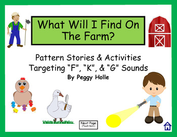 NO PRINT What Will I Find On The Farm? Speech Therapy Inte