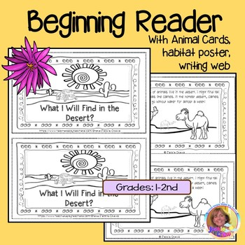 What Will I Find in the Desert? Beginning Reader w/Animal Cards and Activities