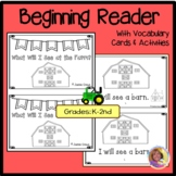 What Will I See at the Farm: Early Reader with Nomenclature Cards