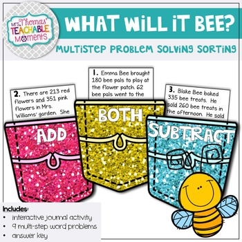Multistep Word Problem Sort Up to 1,000 - What Will It Bee?