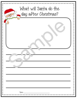 What Will Santa Do the Day After Christmas Writing
