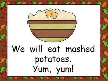What Will We Eat on Thanksgiving Kindergarten Shared Reading PowerPoint