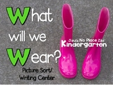 What Will We Wear?  STEM WEATHER WRITING/SORT
