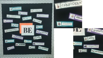 What Will You Be? Character Trait Bulletin Board with PCS