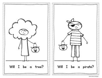 What Will I Be? {Halloween} Emergent Reader Kindergarten and First Grade