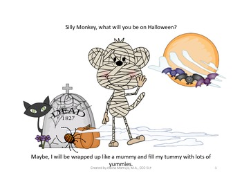 What Will You Be On Halloween? Speech Therapy
