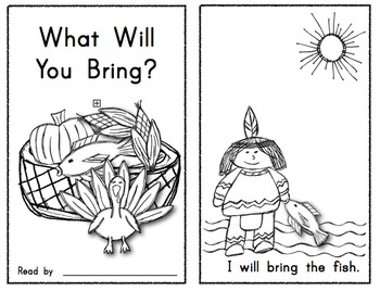 What Will You Bring?  Thanksgiving Emergent Reader