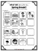 What Will You Do On Your Spring Break? Freebie