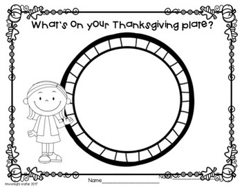 What Will You Eat for Thanksgiving? FREEBIE