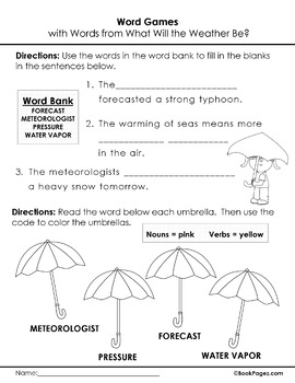 What Will the Weather Be? Lesson Plans & Activities Package, Second Grade (CCSS)