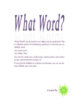 What Word?