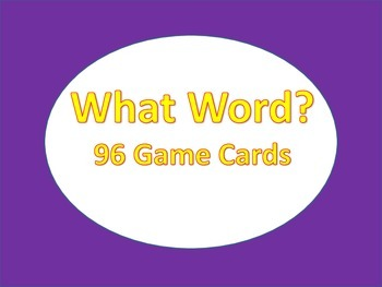 ESL: Vocabulary Game: What Word: (Taboo)