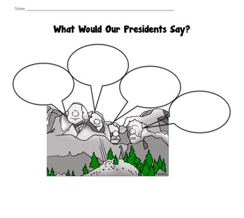 What Would Our President's Say? Printable