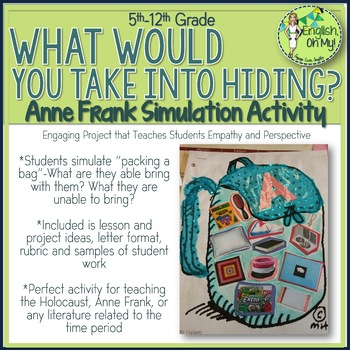 The Diary of Anne Frank, Anne Frank, Simulation Activity, Backpack
