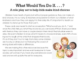 What Would You Do Card Set. Kindness Conversation Starters
