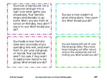 What Would You Do? Social Skills Cards