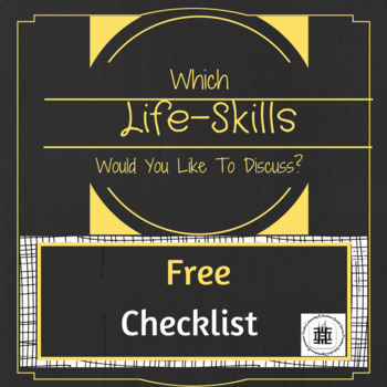What Would You Like To Discuss Checklist
