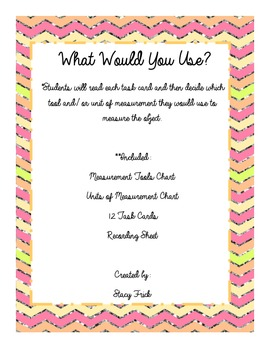 What Would You Use?  A Measurement Activity