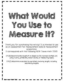What Would You Use to Measure It?
