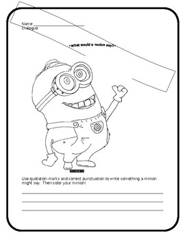 What Would a Minion Say? (Quotation Marks)