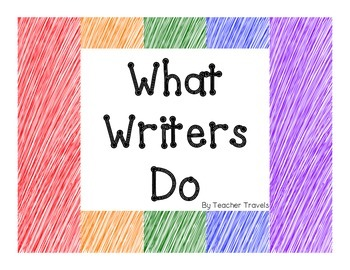 What Writers Do Posters