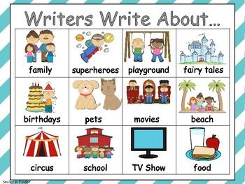 What Writers Write Chart