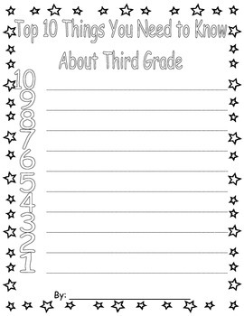 What You Need To Know About Third Grade Writing Activity