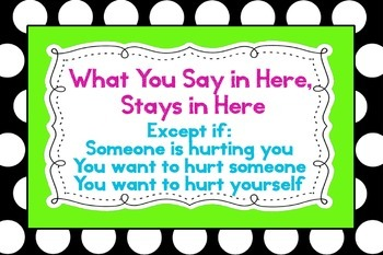 """Polka Dot - What You Say in Here Stays in Here Poster 36""""x24"""""""