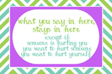 Purple, green and teal - What You Say in Here, Stays in Here Poster