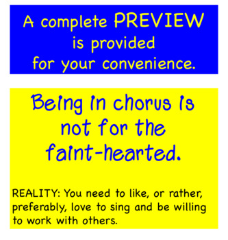 What You Will Experience in Chorus Worksheet + Answer Key