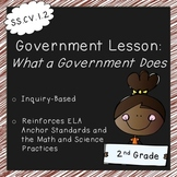 What a Government Does (2nd Grade Government Lesson, Standards Aligned)