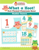 Number Posters - Owl Theme