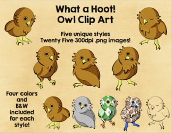 What a Hoot! Owl Clip Art